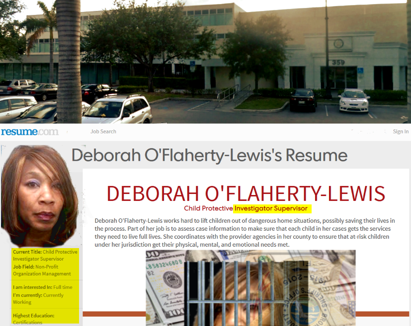 Debbie O'Flaherty Wilson worked at this office complex in Plantation  Florida, at 359